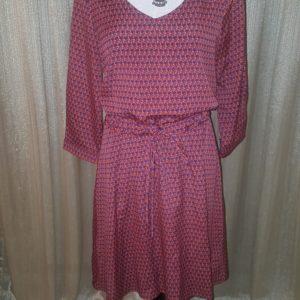 Collective Concepts Orange & Blue dress Medium $25