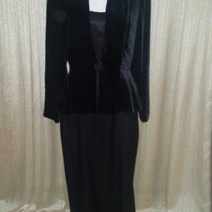 Evan Picone Evening Dress BlkSatinValour sz10 $60