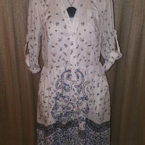 iCE White Printed Shirt Dress sz.12 $15