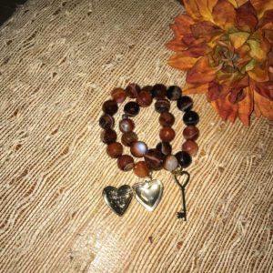 Key to my Heart Bracelet Set by ♡Links $25