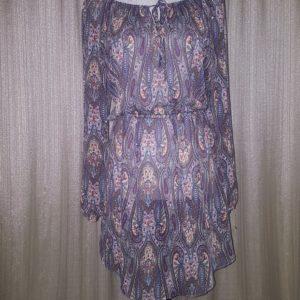 Wet Seal, Chiffon, Paisley Print, Dress, Large, $20