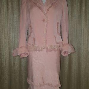 Anne Klein Fringe Skirt Suit Sz. 10 $90