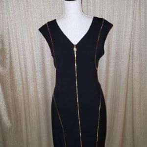 Calvin Klein Sleeveless Exposed Zipper Dress Sz.12 $50