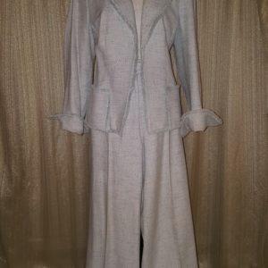 Fenn Wright Manson Fringe Jacket Pant Suit Sz. 10 $75