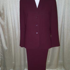 NYP Plum Three Button Pant Suit Sz. 12 $50