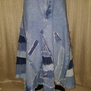 Urban Cinderella ONE OF A KIND Calve Length Skirt Front View Sz.14 $75