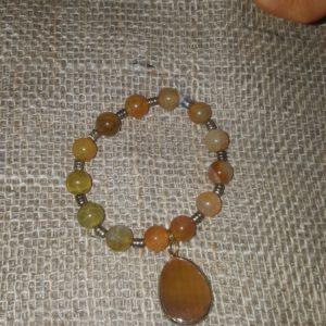 Semi precious stones w matching charm by LoveLinks $10
