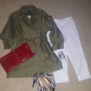 shop this look – jacket, purse, bracelets and shoes