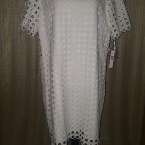 Catherine, Eyelet Casey Dress, Size 14, $45