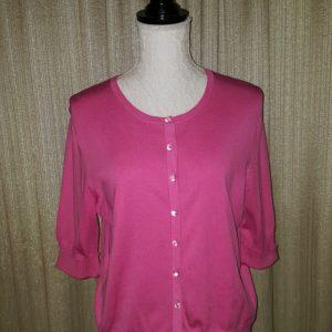 Josephine Chaus Hot Pink Tunic Small $25